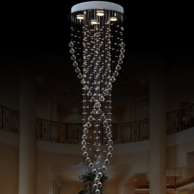 Luxury Round Crystal Chandelier Lighting Newest Simple Fashion Hanging Lamp Fixtures For Dining Room Cafe