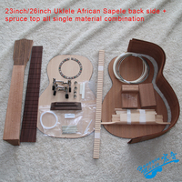23inch/26inch Ukulele Africa Sapele All Single Combination DIY Ukelele Kit Set Musical Instrument Accessories