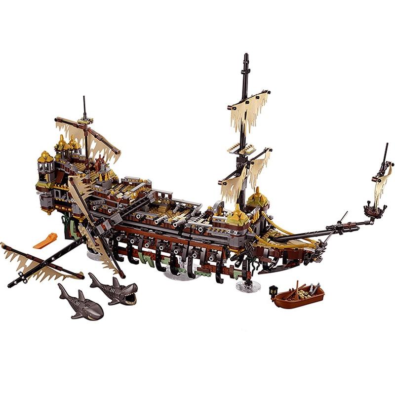 Compatible Legoe pirates 71042 Model caribbean 16042 2344pcs The Slient Mary Set building blocks bricks toys for children