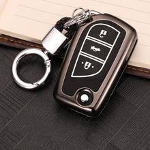 цена на Luminous Leather Car-Styling Key Cover Case For Toyota Corolla RAV4 Auris Avensis Camry Land Cruiser 200 Aygo Yaris Reiz Crown