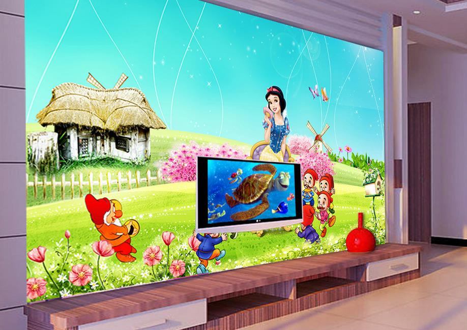 3d Kidsu0027 Room Wallpaper Custom Mural Non Woven Wall Sticker Snow White  Painting Photo 3d Wall Murals Wallpaper For Walls 3d Part 21