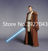 Free shipping Custom Made Star Wars Obi Wan Kenobi Jedi Tunic Robe Costume Outfit Adult Men's Carvinal Hallween Cosplay Costume