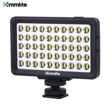 مصباح فيديو بكاميرا LED من Commlite CM L50 ، 50 مصباح LED 5700 6000K مصباح لوحي صغير قابل للتعتيم لكاميرات كانون ونيكون والهاتف الذكي