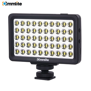 Image 1 - مصباح فيديو بكاميرا LED من Commlite CM L50 ، 50 مصباح LED 5700 6000K مصباح لوحي صغير قابل للتعتيم لكاميرات كانون ونيكون والهاتف الذكي
