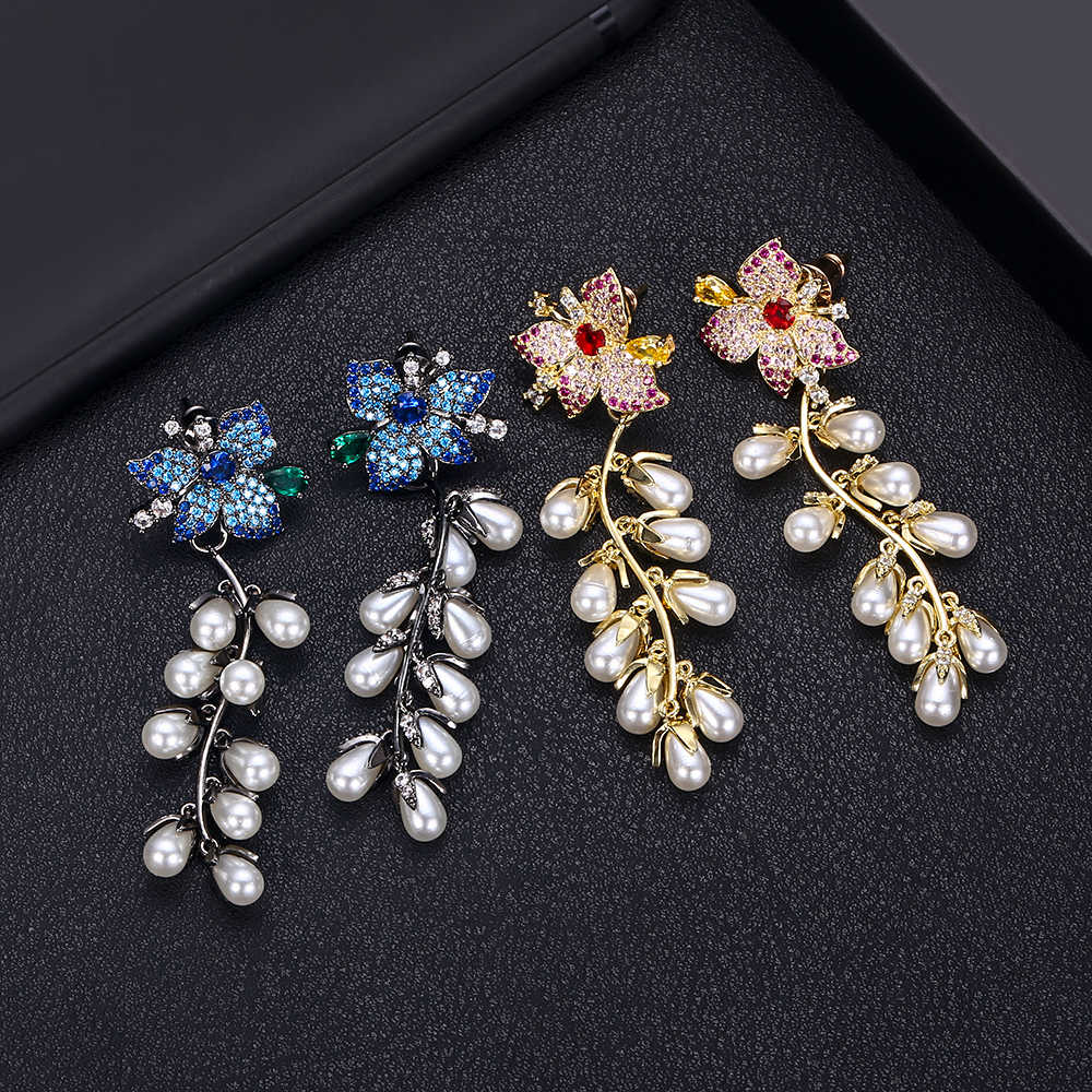 jankellyLuxury flower Full Micro Cubic Zirconia Women Bridal Wedding Engagement Earring Ring Jewelry Set