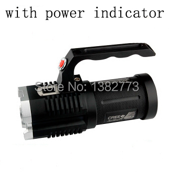UniqueFire 4x Cree XM-L2 3600-Lumen 5-Modes Portable Camping Hunting 4x18650 battery Led Flashlight Torch With Power Indicator 5000lm portable flashlight uniquefire uf 1400 5 mode 4 cree xm l2 led torch lamp for 4 18650 li ion rechargeable battery