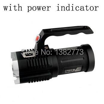 UniqueFire 4x Cree XM-L2 3600 lumens 5 Modes Portable Camping chasse 4x18650 batterie lampe de poche LED torche avec indicateur de puissance