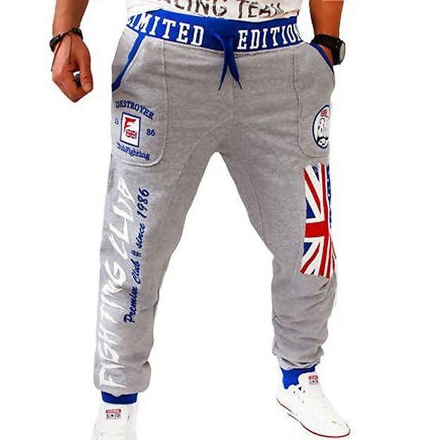 Мужские Падение Промежность Тренировочные Брюки Багги Pantalon Homme США Американский флаг Joggingbroek Мешковатые Грузовые Штаны