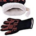 Anti Slip easy grip heat resistant long cuff silicone oven glove/BBQ grill glove made in china