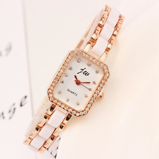 Fashion Brand Bracelet Watches Women Luxury Rose Gold Stainless Steel Wristwatches Ladies Dress Casual Quartz Clock Montre Femme