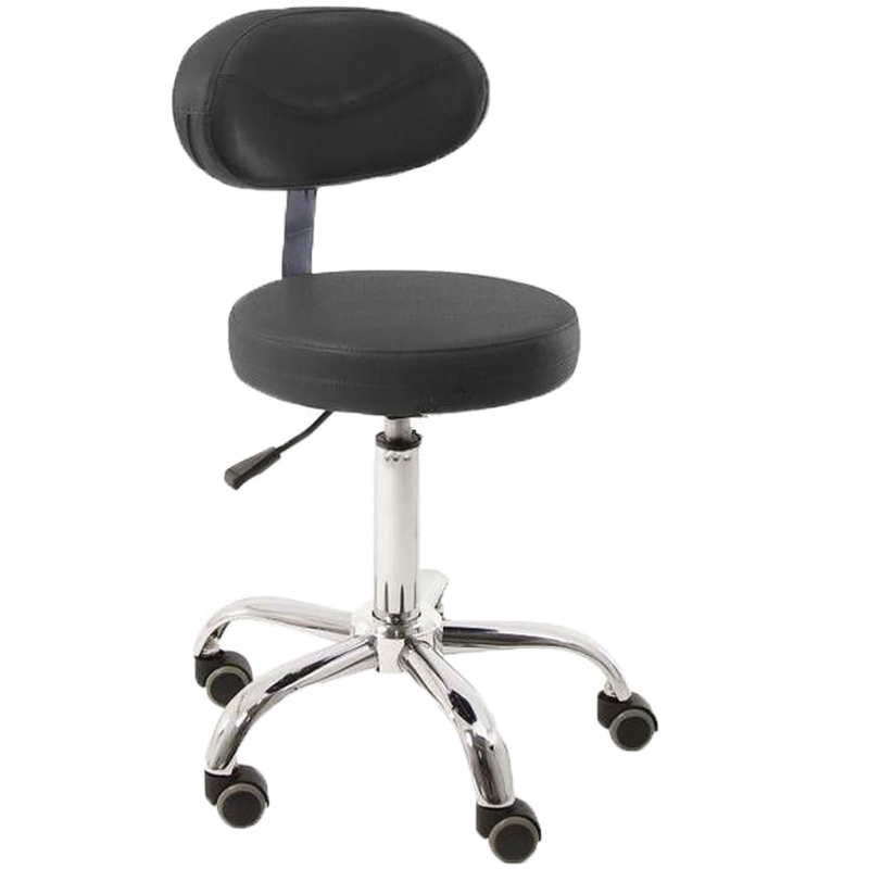 Modern Adjustable Swivel Salon Massage Spa Seat Tattoo Medical Chair Stool Leather Seat and Back Massage Swivel Chair Furniture homall bar stool walnut bentwood adjustable height leather bar stools with black vinyl seat extremely comfy with seat back pad
