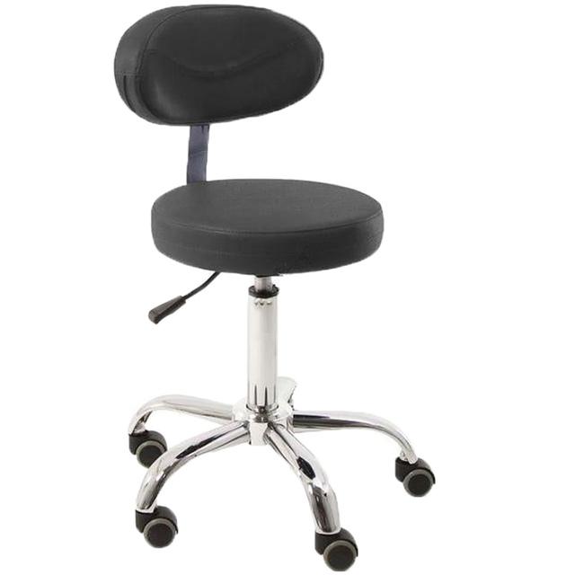 Moderna Cadeira Giratória Ajustável Assento De Massagem Salão de beleza Spa Tatuagem Médica Fezes Assento De Couro e de Volta Massagem Cadeira Giratória Móveis