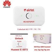 Оригинальный разблокировать huawei E5573 E5573Cs-609 Портативный LTE FDD Мобильный Wi-Fi 150 Мбит/с 4G беспроводной lte-роутер, PK E5372 E5577