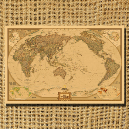 Nostalgic vintage cowhide paper decorative painting big world old nostalgic vintage cowhide paper decorative painting big world old compass map poster asian version of the gumiabroncs Choice Image