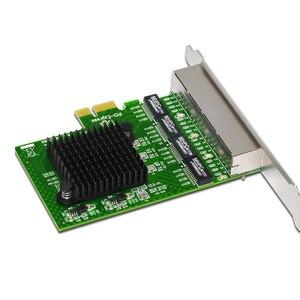 Image 5 - Ağ Kartı 4 Port Gigabit Ethernet 10/100/1000 M PCI E PCI Express 4x Gigabit Ethernet Ağ kart lan kartı Masaüstü Bilgisayarlar için