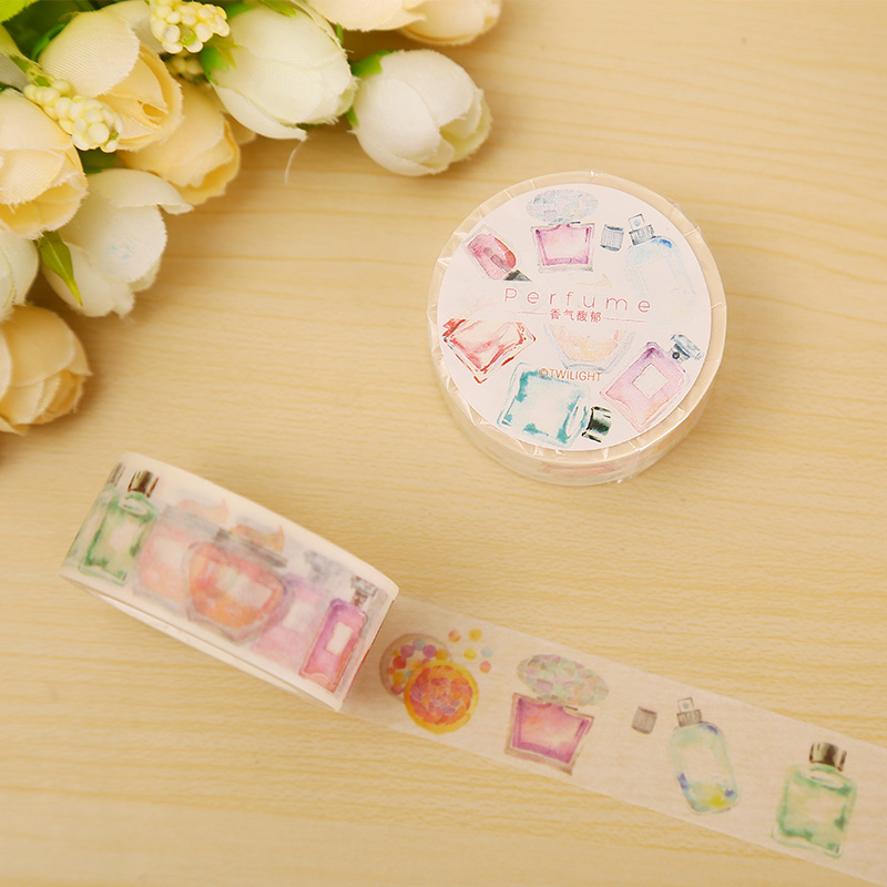 2cm*8m Perfume Washi Tape DIY Decoration Scrapbooking Planner Masking Tape Adhesive Tape Label Sticker Stationery