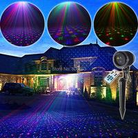ESHINY Outdoor RGB Laser Full Stars Sky Patterns Projector House Party Xmas DJ Wall Tree Landscape Garden Waterproof Light T71