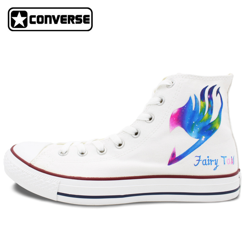 Converse All Star Women Men Shoes Anime Galaxy Fairy Tail Design Hand Painted Canvas font b