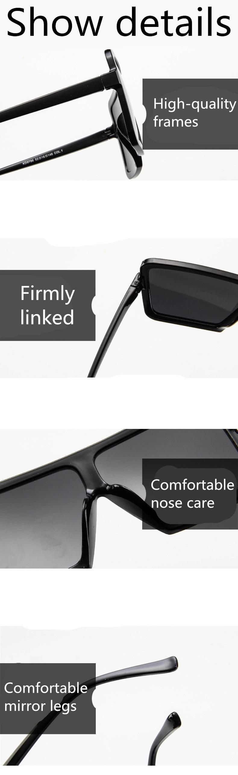 ASUOP2018 large frame new retro ladies sunglasses black radiation fashion men's glasses UV400 international luxury brand square goggles (14)