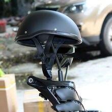 57-62 см ABS пластиковый мотоциклетный шлем для harley Motorcross Capacete половина шлем ретро матовый яркий черный