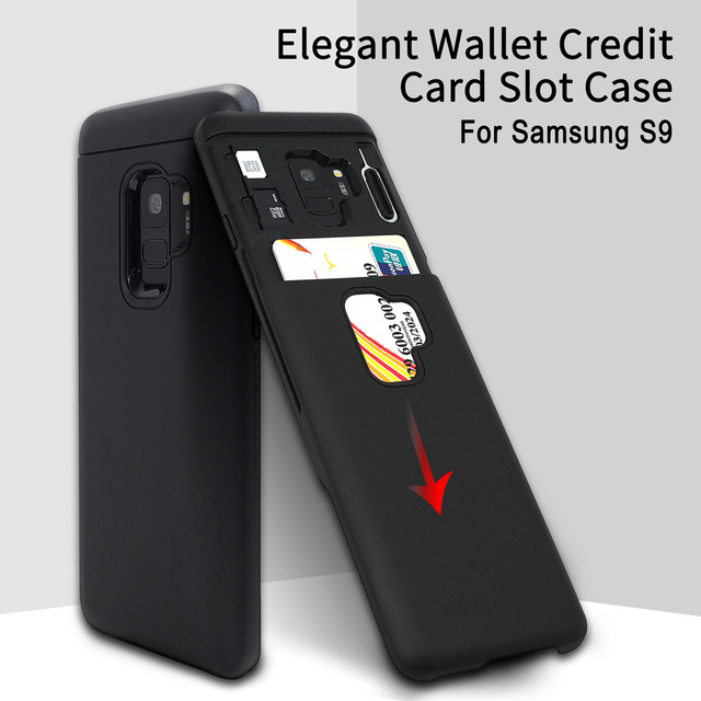 best service ebed0 f41f7 US $9.99 |For Samsung Galaxy S9 Case Luxury Wallet Credit Card Slot Soft  Silicone Protector Back Cover For Samsung Galaxy S9 Coque Fundas -in Fitted  ...