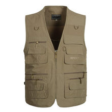 Tactical Vest XL-5XL Men Military Vest Photography Cameraman Fishing Vest Director Reporter Hunting Molle Vest Colete Airsoft(China)