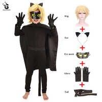 Chat Noir coccinelle Cosplay Costumes enfants Cosplay fête habiller vêtements coccinelle chat Costumes filles garçons combinaisons cape perruque