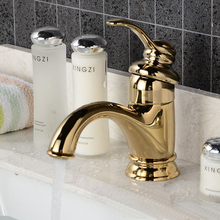 Gold bathroom faucet Single Handle Gold Bathroom Vessel Sink Lavatory Basin Mixer Tap HG 1267