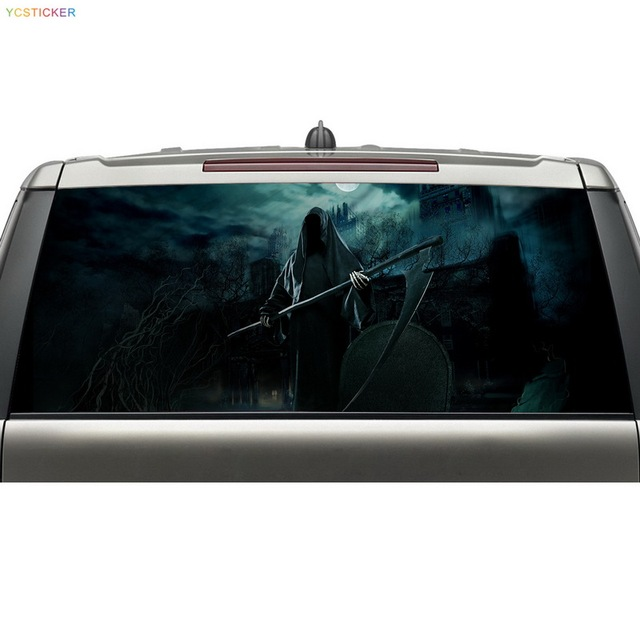 New arrival hot item car rear window view decal see through reusable wrap vinyl decorative stickers