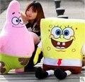 50cm 1PC 2015 Kawaii SpongeBob doll doll baby toy SpongeBob plush toy Patrick Star plush toy Gift For Kid birthday present