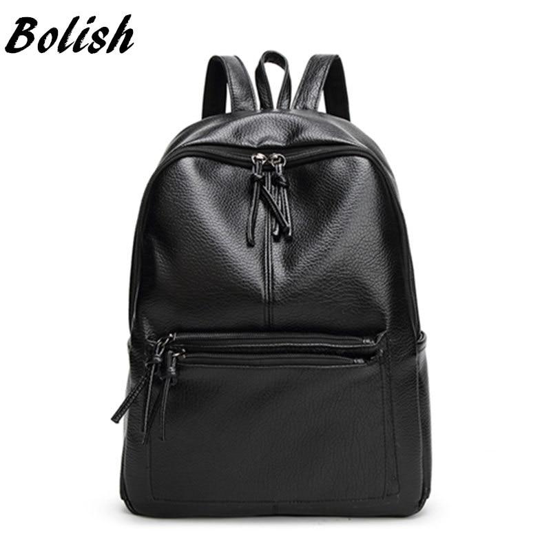 Bolish новый рюкзак путешествия корейский Для женщин женский рюкзак для отдыха студент школьная сумка из мягкой искусственной кожи Для женщин сумка