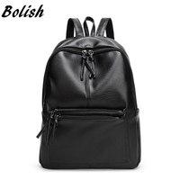 New Travel Backpack Korean Women Backpack Leisure Student Schoolbag Soft PU Leather Women Bag