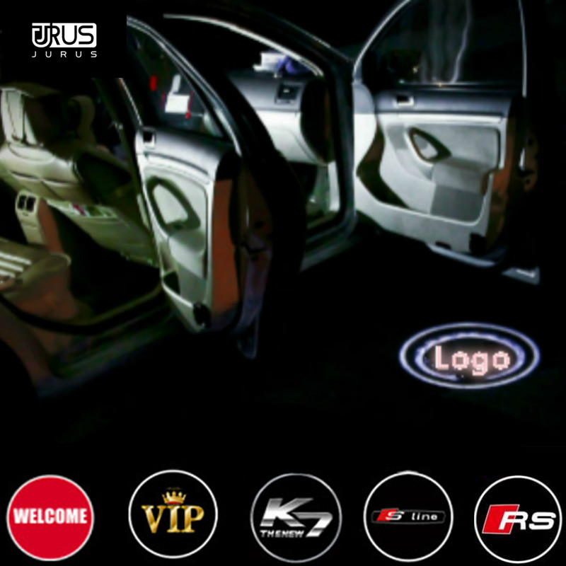 JURUS sale high quality 12v led door logo light car welcome lamp auto laser projector for vw for opel for nissan for most cars jurus led car door logo interior light ghost shadow welcome light laset wireless projector for toyota for vw for ford hot sale page 4