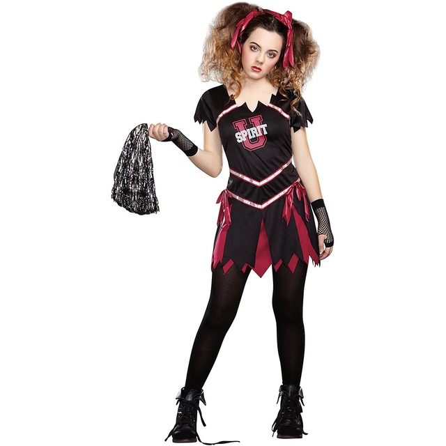 Teen Girls Gothic Undead Zombie Cheerleader Costume School Girls U Spirit University Cheerleading Uniform Halloween Costumes  sc 1 st  AliExpress.com & Teen Girls Gothic Undead Zombie Cheerleader Costume School Girls U ...