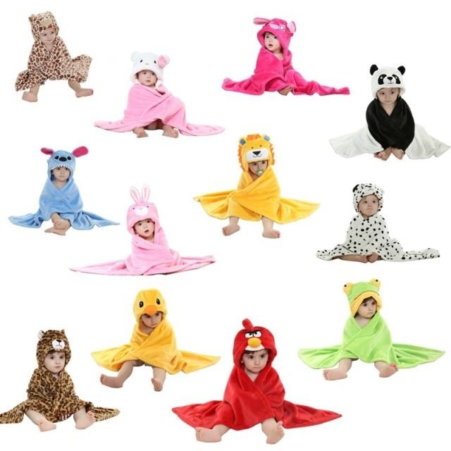 Designs Hooded Animal Model Cloak Baby Bathrobe/Cartoon Baby Towel/Character Kids Bath Robe/ Bath Towel