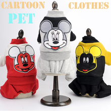 Pet supplies Mickey pet clothes dog winter jacket four-legged hoodie Dog dress Outfit