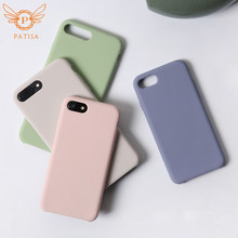 Simple Solid Color Soft Phone Case For iPhone XS Max case Fashion TPU Silicone material For iPhone 6 6S 7 8 Plus X XR Back Cover(China)