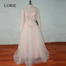 Real Picture Long Sleeve Muslim Wedding Dresses 2017 Beaded Sexy Light Pink Bridal Gowns With Hijab Vestidos De Novia