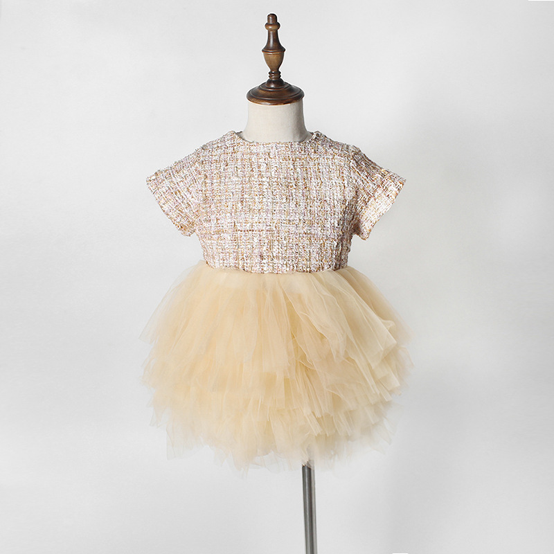 Autumn Toddlers Kids Princess Tutu Dress Infants Clothes Patchwork Palace Party Ball Gown Baby Girls Birthday Wedding Dresses