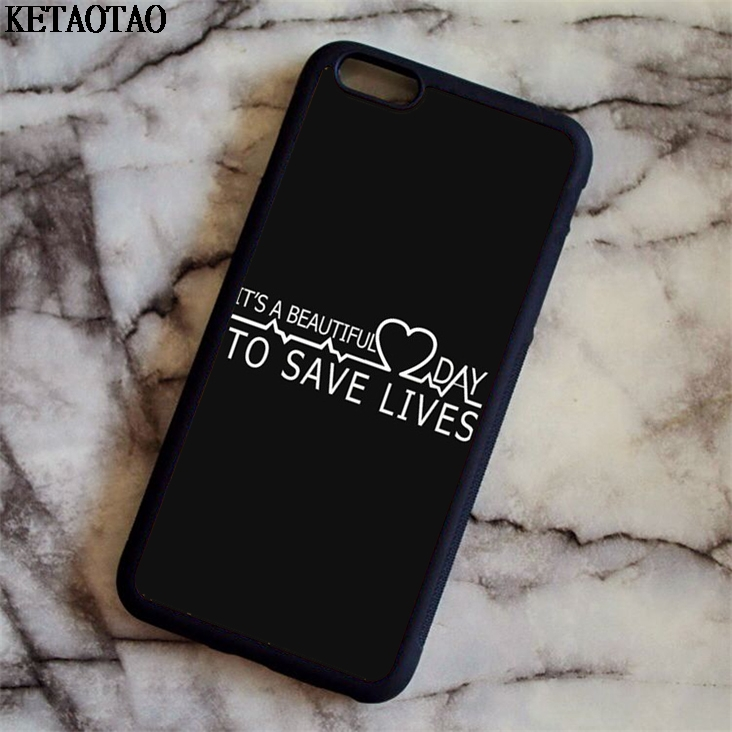 KETAOTAO 2018 New Gray Anatomy Phone Cases for iPhone 4S 5C 5S 6 6S 7 8 Plus X for Samsung S8 NOTE Case Soft TPU Rubber Silicone