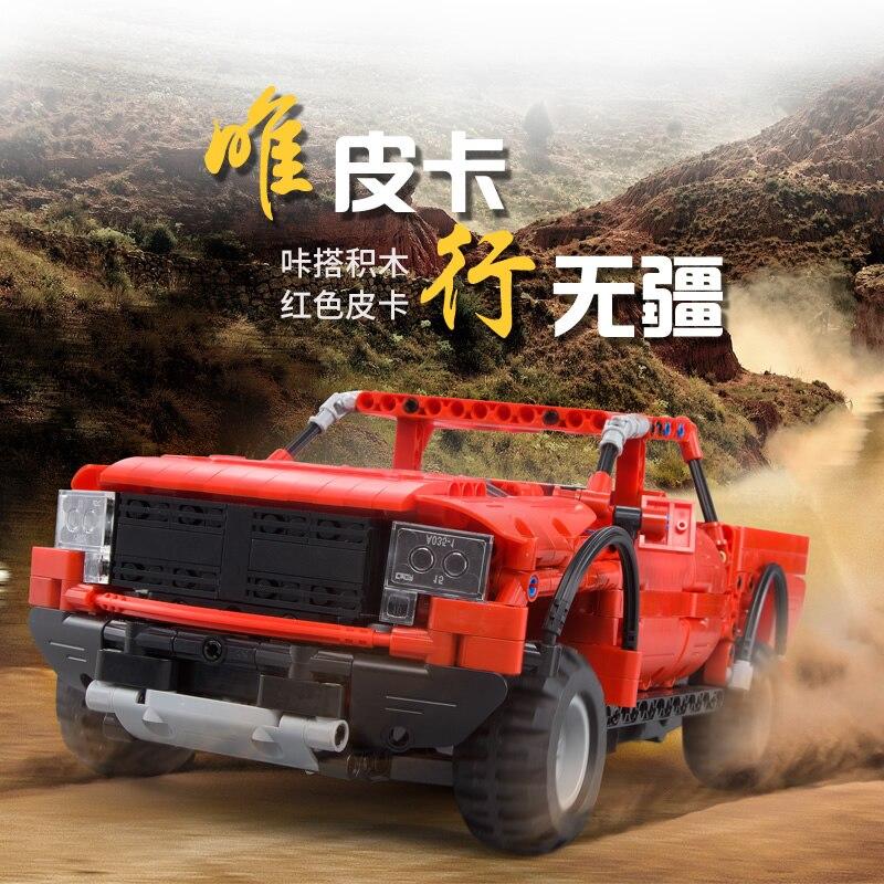 549 pièces voiture de camion de course 2 en 1 modèle déformable bloc de construction ensemble bricolage jouet compatible Legoings Alpinia jouet