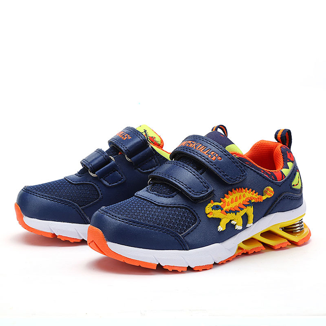 New Kids Running Shoes Boys Sneakers Sport Outdoor Shoes Leisure Coach Breathable 3D Dinosaur Toddler Boy Shoes Sneakers Spring
