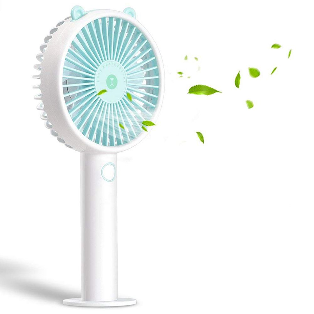 Mini Usb Fan Handheld Electric Fan Portable Outdoor Fan With Separable Base 3 Speeds 3600mah Rechargeable Battery For Home Off Fine Quality Fans