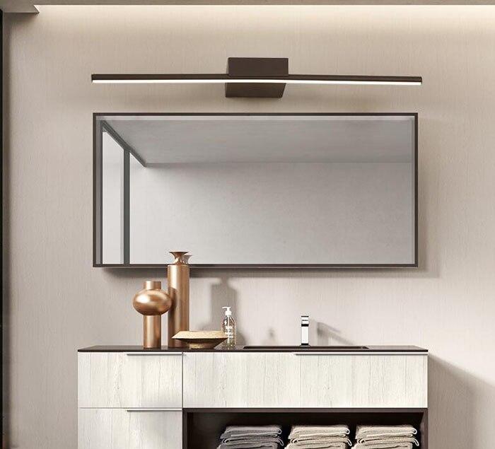 Eenvoudige Moderne LED Spiegel Wandlamp Badkamer Spiegelkast ...