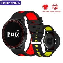 Femperna CF007 Спорт Водонепроницаемый SmartBand Bluetooth Smart часы Поддержка сердечного ритма Мониторы шагомер браслет для IOS Android