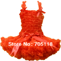 БЕСПЛАТНАЯ ДОСТАВКА Детские pettiskirt комплект шифон топ + юбка pettiskirt, оранжевый Платья балетной пачки, девушки Юбки набор 11 цветов для выбора