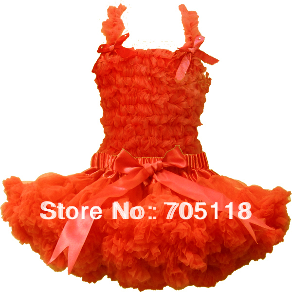 FREE SHIPPING Baby pettiskirt set chiffon top + skirt pettiskirt,orange tutu Dress, Girls Tutu Skirt set 11colors for choose new hot sail 2015 children girl chiffon top skirt set baby pettiskirt tutu top girls tutu skirt free shipping