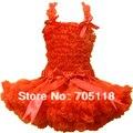 FREE SHIPPING Baby pettiskirt set  chiffon top + skirt pettiskirt,orange tutu Dress, Girls Tutu Skirt set 11colors for choose