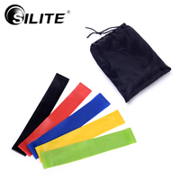 SILITE Resistance Bands Loop Fitness Latex Crossfit Pilates Workout Training Pull Rope Comprehensive Fitness Exercise 6pcs