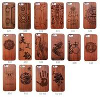 Stytes Gift Handmade Laser Wood Multi Patterns RoseWooden Capa+PC Case Cover For Apple iPhone X 8 7 6 6S PLUS 5 SE 5S